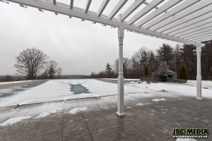 The pool in winter